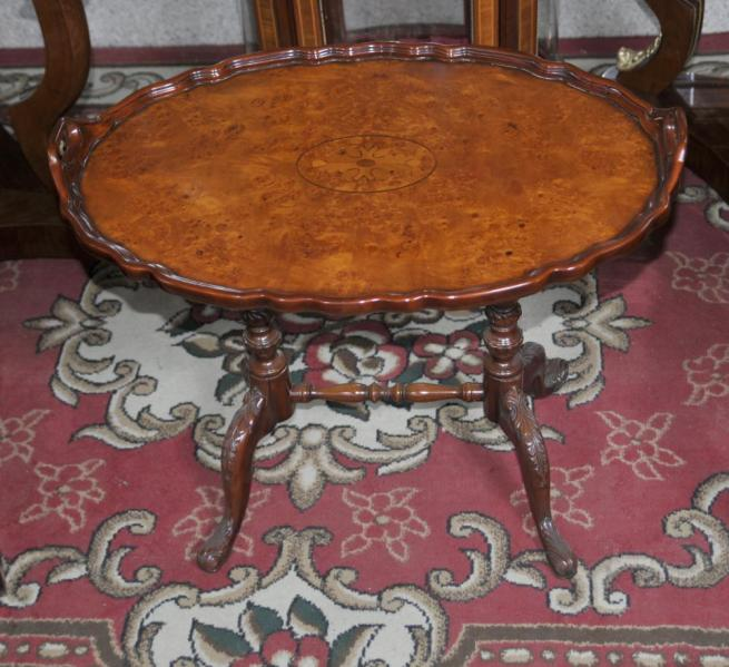 Victorian Oval Tray Table Walnut Side Tables
