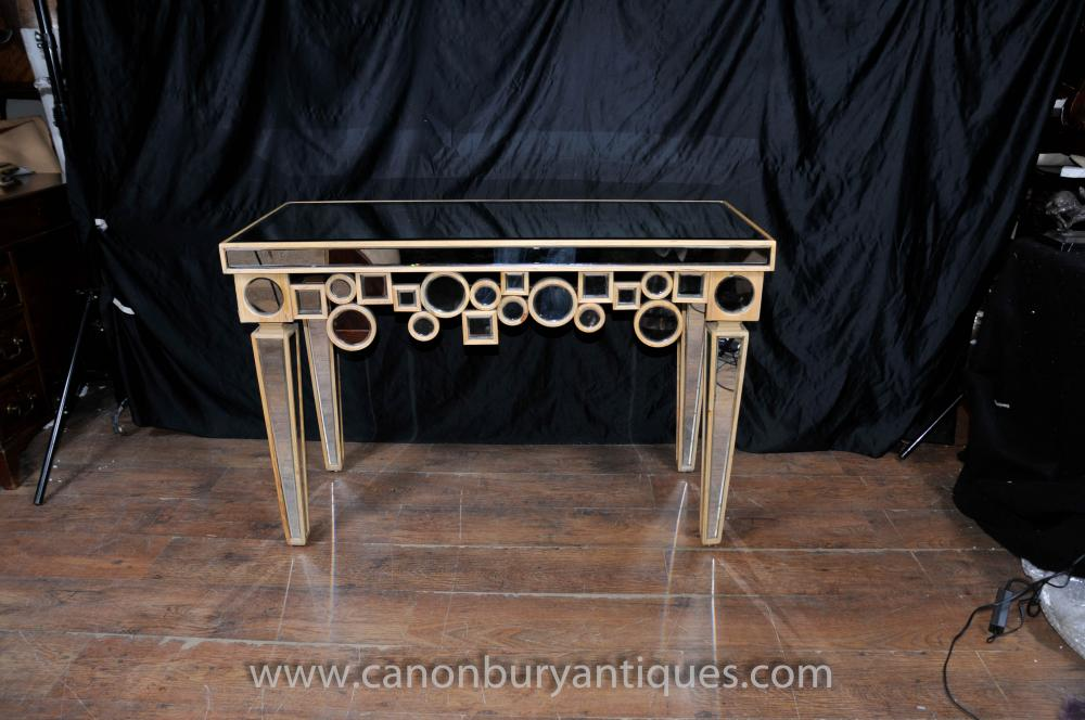 art deco mirrored console table hall tables borghese furniture canonburyantiquess blog borghese furniture mirrored