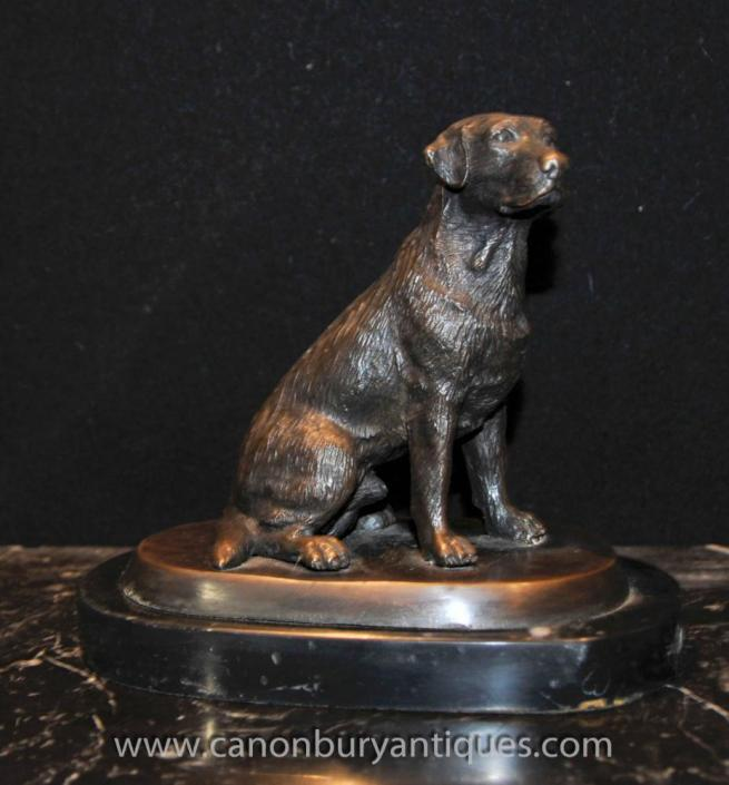 Bronze English Labrador Dog Statue Casting