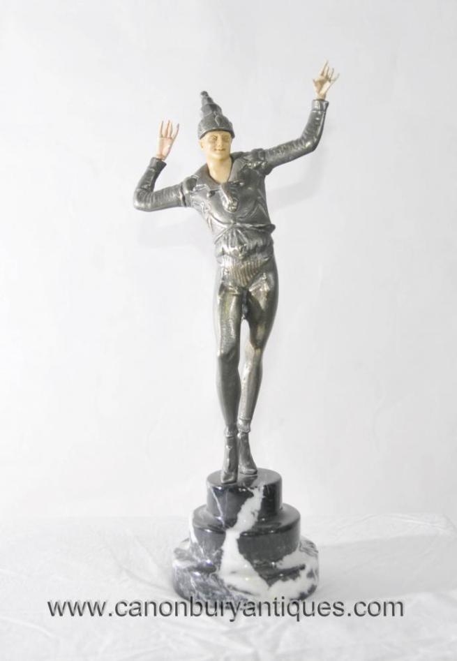 Chiparus Art Deco Ballets Russes Male Figurine Statue Dancer