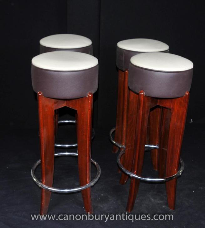 Set 4 Art Deco Stools Chairs Seats Vintage Furniture