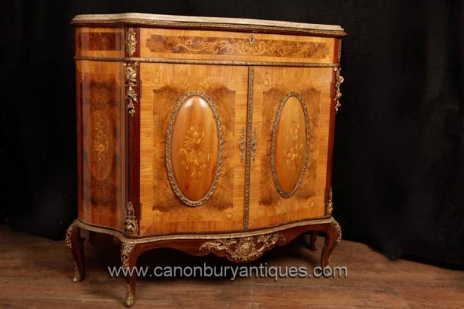 Antique French Empire Cabinet Commode Kingwood Chest Circa 1910