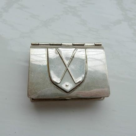 Antique Sterling Silver Golf Club Trinket