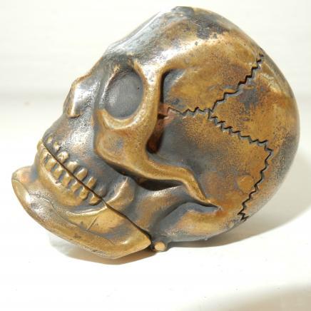 Brass Gothic Skull Vesta