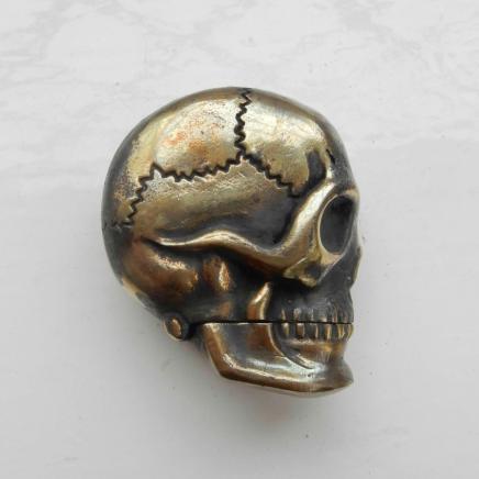 Brass Human Skull Vesta
