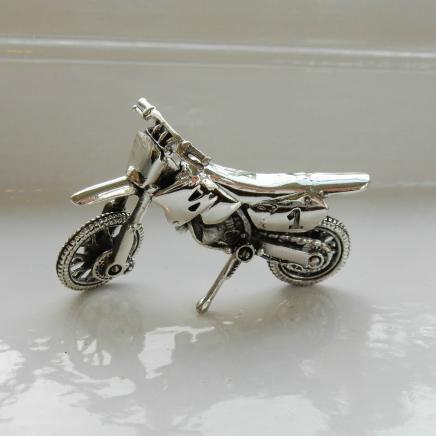 Collector's Solid Silver Motorcycle