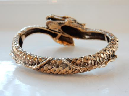 Oriental Dragon Cuff Bracelet