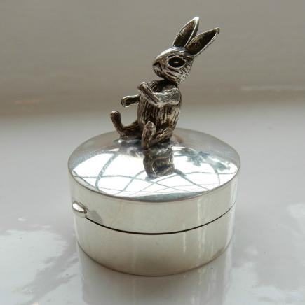 Silver Bunny Rabbit First Tooth Trinket