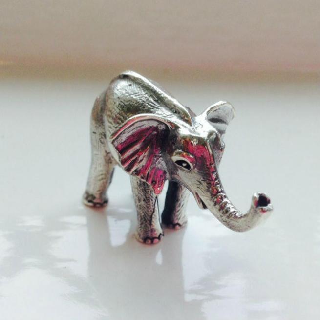 Silver Elephant Keepsake Charm