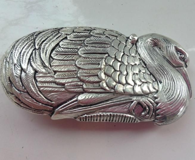 Silver Plate Swan Vesta