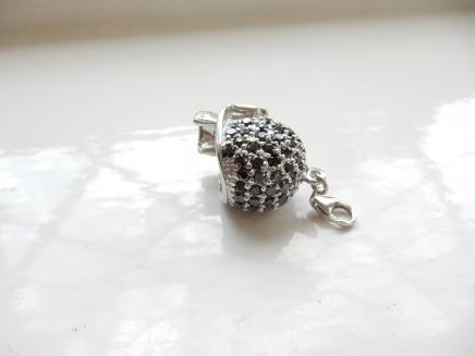 Silver & Swarovski Crystal Skull Charm