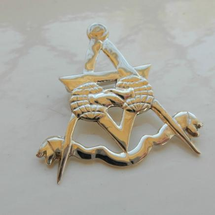 Solid Silver Masonic Pin