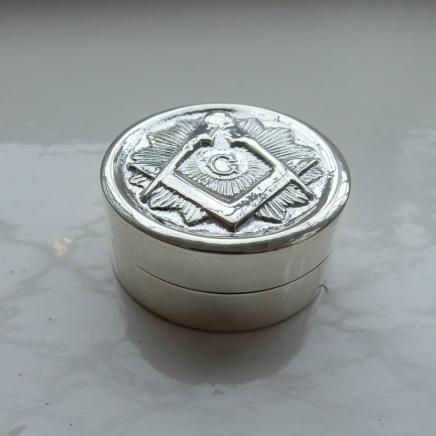 Sterling Silver Freemasons Trinket Box