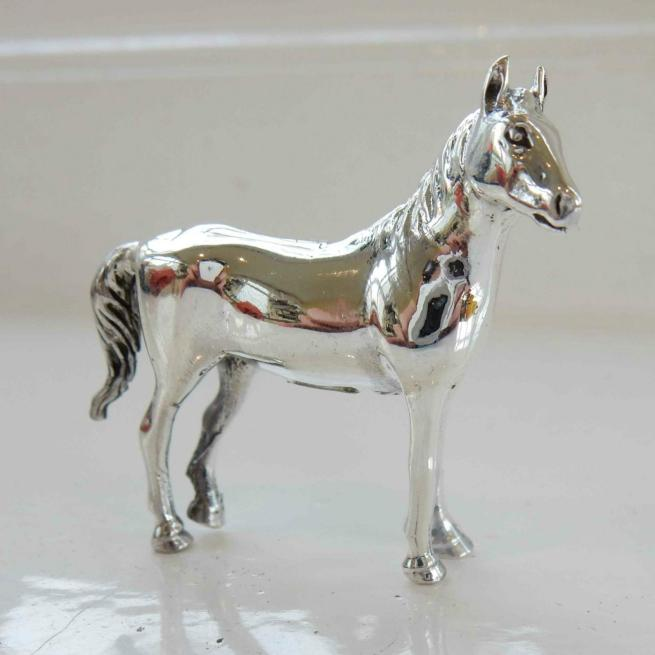 Sterling Silver Horse Figurine Charm