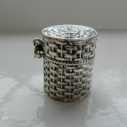 Sterling Silver Needle Thimble Holder