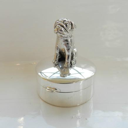 Sterling Silver Pug Dog Trinket