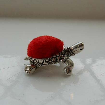 Sterling Silver Tortoise Pin Cushion