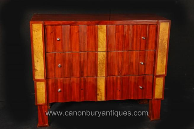 Art Deco Chest Drawers Cabinet Commode 1920s Vintage