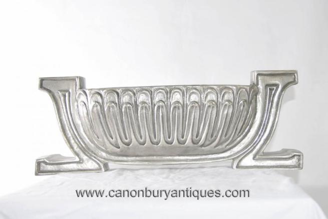 Art Nouveau Silver Bronze Platter Urn Vase Centrepiece Centerpiece