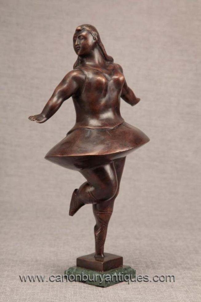 Bronze Ballet Dancer Figurine Statue Botero