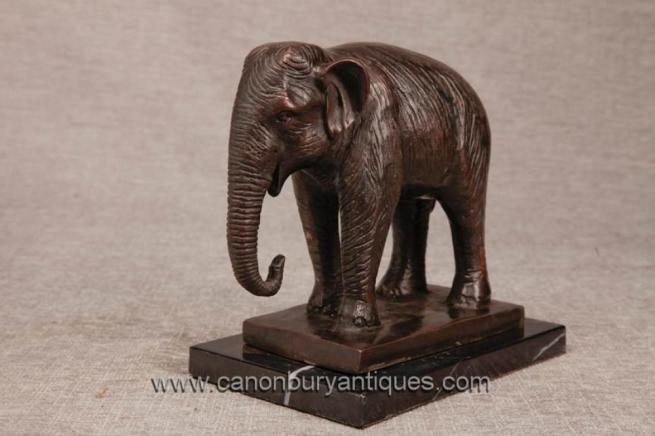 Bronze Casting Indian Elephant Statue Nelly Dumbo Elephants Tribal Art