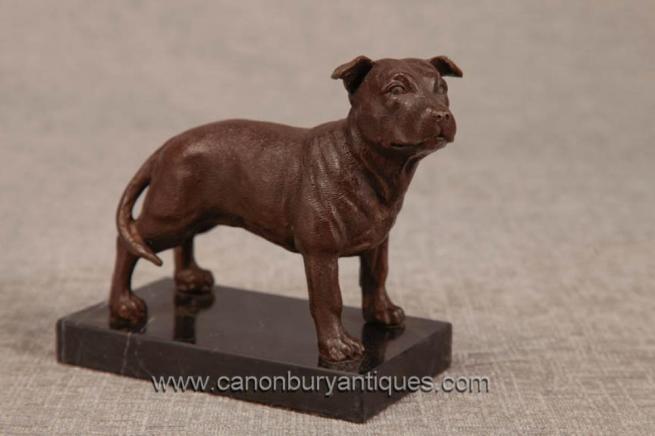 Bronze English Pitbull Dog Statue Casting