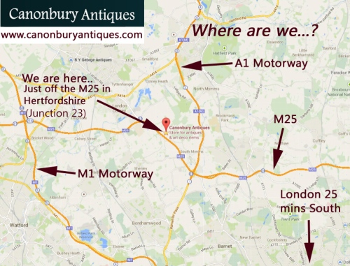 Canonbury Antiques Map - London Hertfordshire