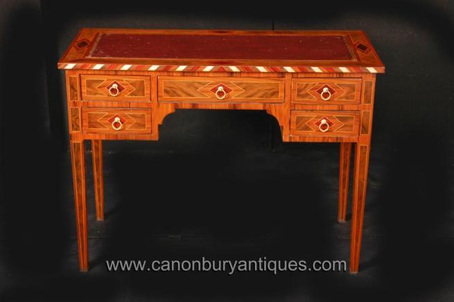 English Sheraton Regency Desk Writing Table