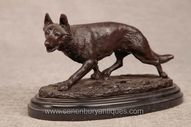 French Bronze Casting Fox Statue Cunning Sly Foxes