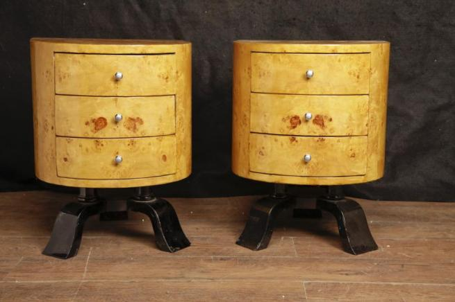 Pair Art Deco Bedside Chests Cabinets 1920s Interiors Nightstands