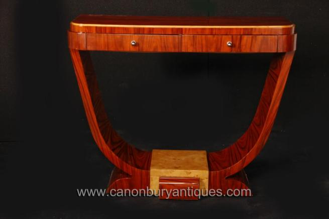 Rosewood Art Deco Console Table Oggee Vintage Furniture 1920s