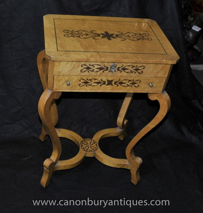 Swedish Biedermeier Dressing Table Side Tables