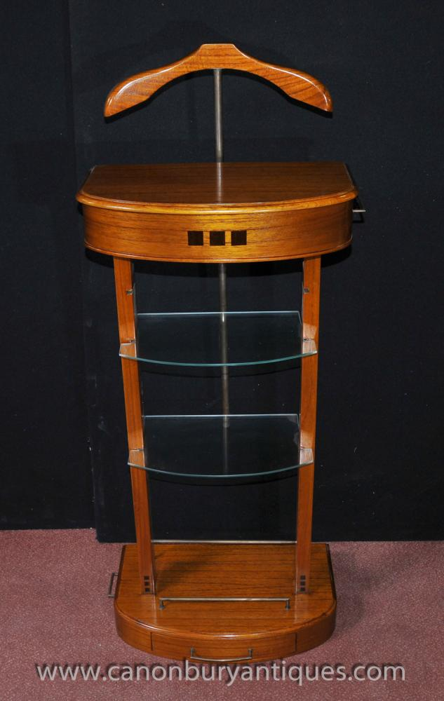 Art Deco Valet Stand Butler Trouser Press Mad Men Satinwood