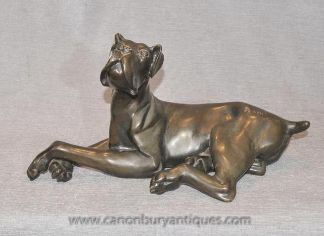Bronze Great Dane Statue Animals Castings Dogs