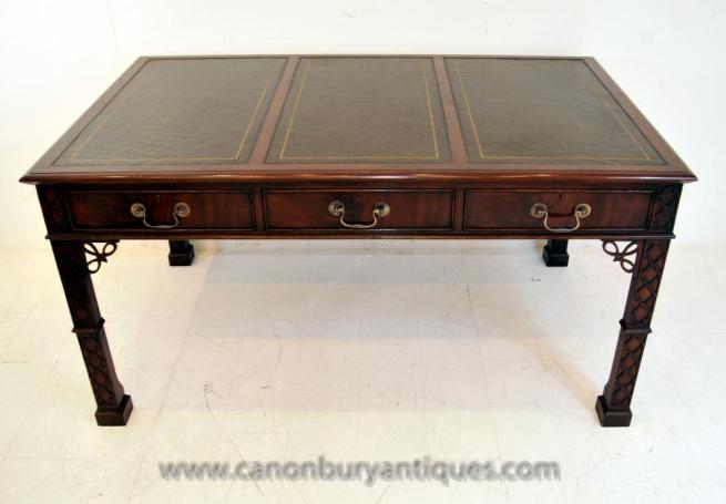 Chinese Chippendale Desk Writing Table Mahogany Furniture