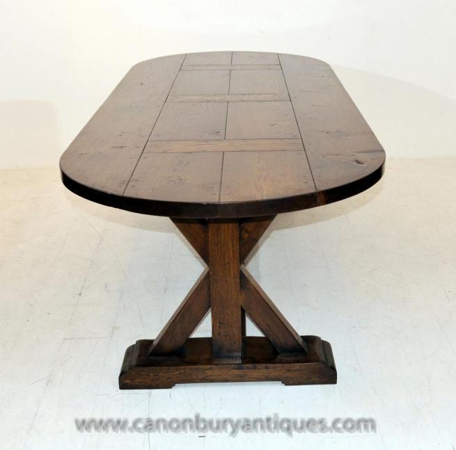 English Oak Refectory Table Farmhouse Furniture Trestle Tables