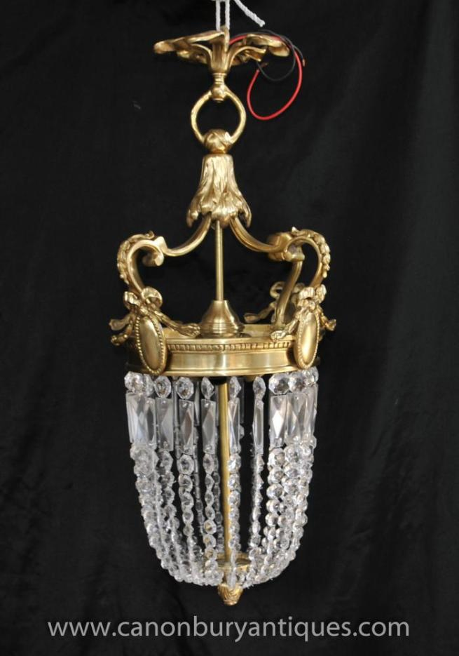 French Empire Ormolu Chandelier Light Lantern Lamp