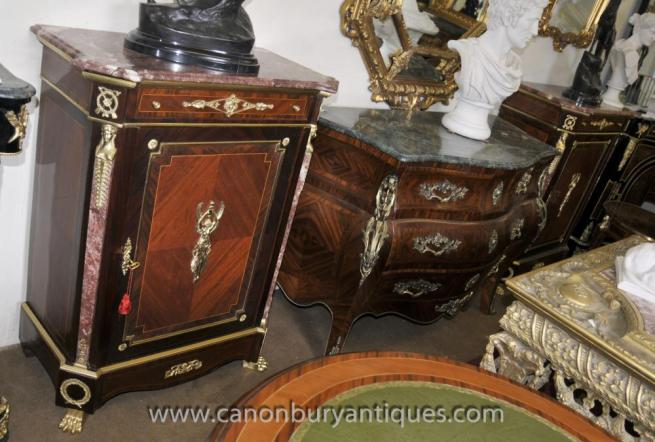 Pair Empire Cabinets Chests Ormolu Pharo Mounts