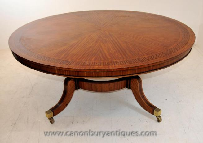 Regency Hepplewhite Centre Table in Satinwood Dining Tables