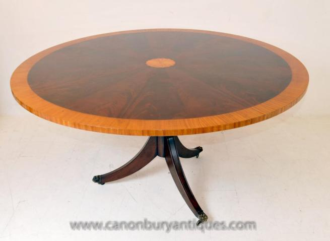 Regency Sheraton Centre Dining Table Mahogany Furniture