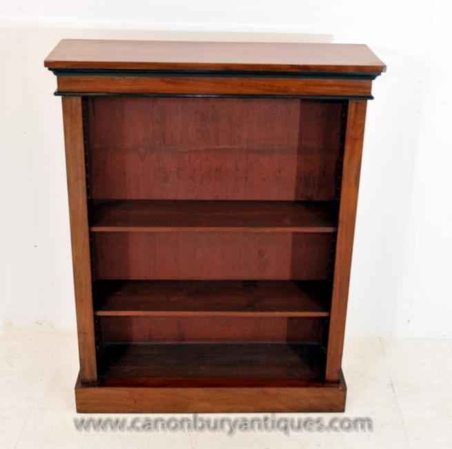 Antique Biedermeier Open Front Bookcase Open Bookcase
