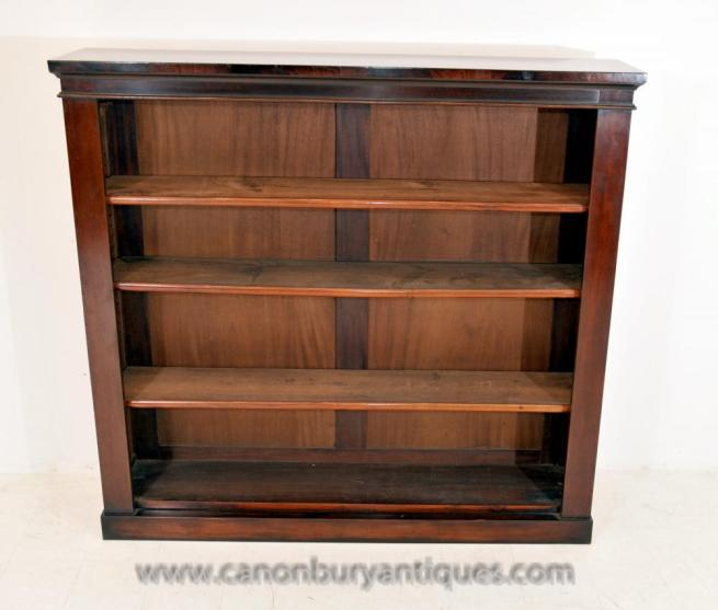 Antique Regency Open Front Bookcase Open Bookcase