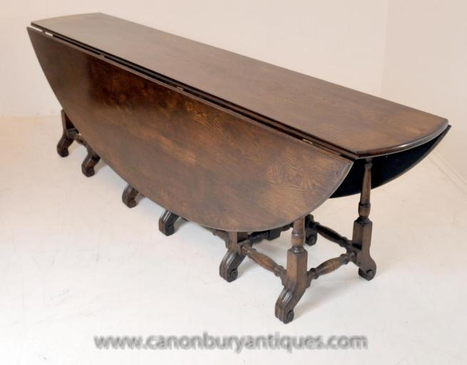 Large Victorian Oak Wakes Oval Table Extending Refectory