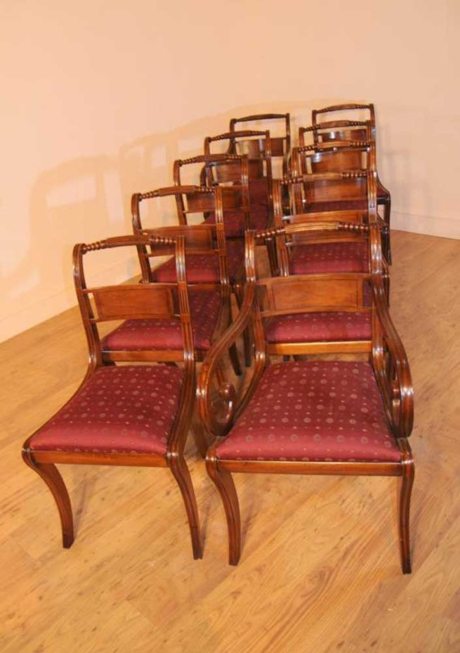 10 Edwardian Mahogany Dining Chairs Diner