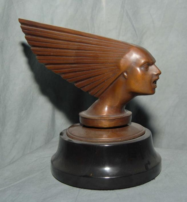 Art Deco Bronze Victoire Bust Male Head