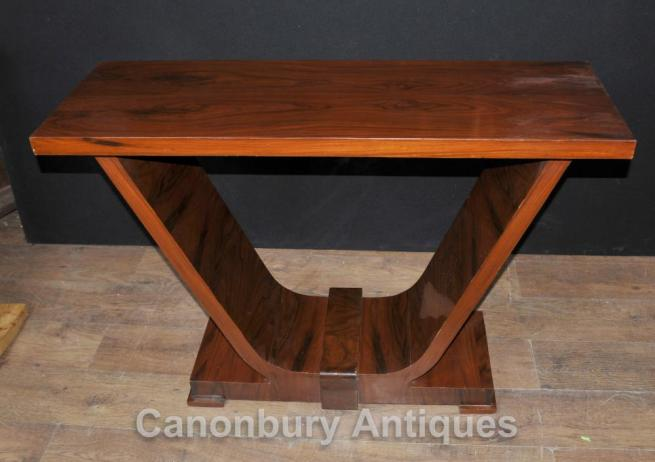 Art Deco Rosewood Console Table Oggee 1920s Vintage Tables