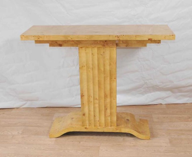 Art Deco Table 1920s Console Tables Blonde Walnut Vintage Furniture
