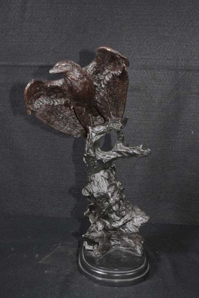 Bronze American Eagle Statue Bird Prey