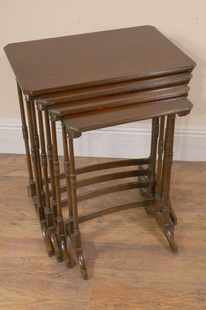 Edwardian Mahogany Antique Nest Tables Side Table