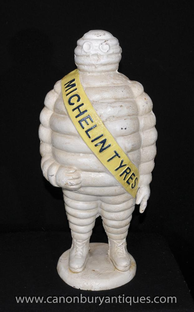Large Cast Iron Michelin Man Statue French Bibendum Statue Michellin